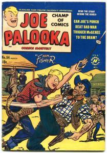 Joe Palooka #54 1951- Harvey Golden Age - Western Cover Ham Fisher VG+