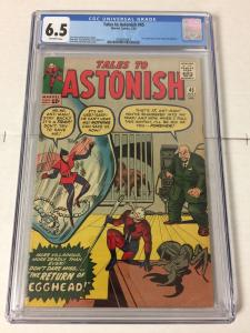 Tales To Astonish 45 Cgc 6.5 Ow/w Pages 2nd Wasp
