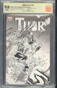 Thor #700 B&W CBCS 9.8 Signed by Jason Aaron