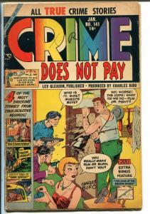Crime Does Not Pay #141 1954-Lev Gleason-sawed off shotgun-Joe Kubert-VG