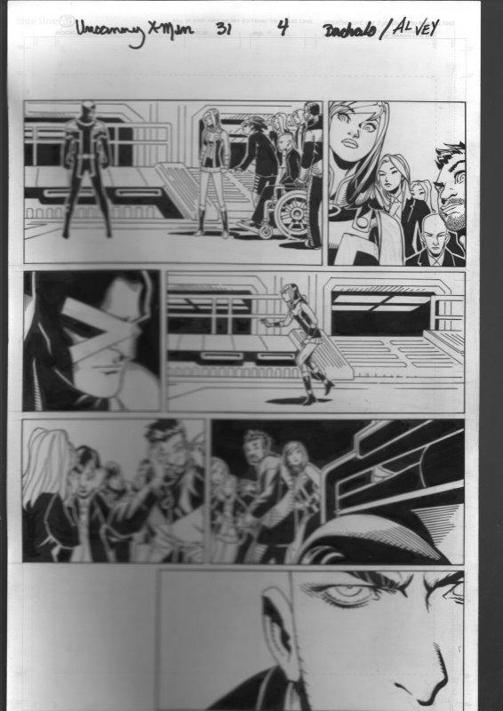 Uncanny X-Men #31 Page 4 Original Comic Book Art 2013-Bachalo-Al Vey-Cyclops-FN