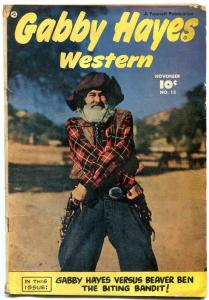 GABBY HAYES WESTERN #12 1949-FRONT & BACK PHOTO COVERS VG