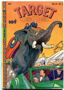 Target Comics Vol 8 #3 1947- elephant cover- Chameleon FN+