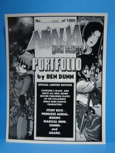 Ben Dunn Ninja High School Portfolio 6 Drawling #328/1000