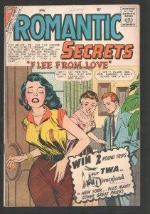 Romantic Secrets #26 1960-Charlton-Dick Giordano headlights cover-Joe Sinnott...