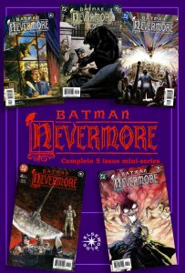 BATMAN: NEVERMORE #1 - 5 (June/Oct2003) 9.0 VF/NM Complete ELSEWORLDS Miniseries