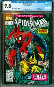 Spider-Man #12 CGC Graded 9.8 Wolverine & Wendigo appearance. Sasquatch & Puc...
