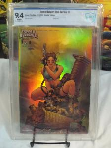 Tomb Raider #1 CBCS 9.4! Holochrome Edition! 1st Solo Series Image/Top Cow 1999