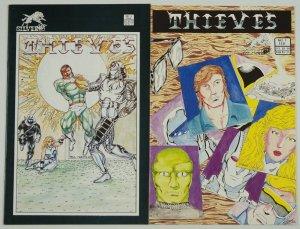 Thieves #1-2 VF complete series - silverwolf comics set - kris silver 1986