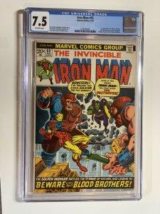 Iron Man 55 Cgc 7.5 Ow Pages Marvel Bronze 1st Thanos