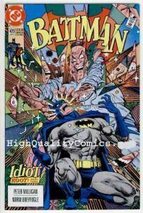 BATMAN #473 VF/NM, Milligan, 1992, Idiot, Gotham City, Bruce Wayne