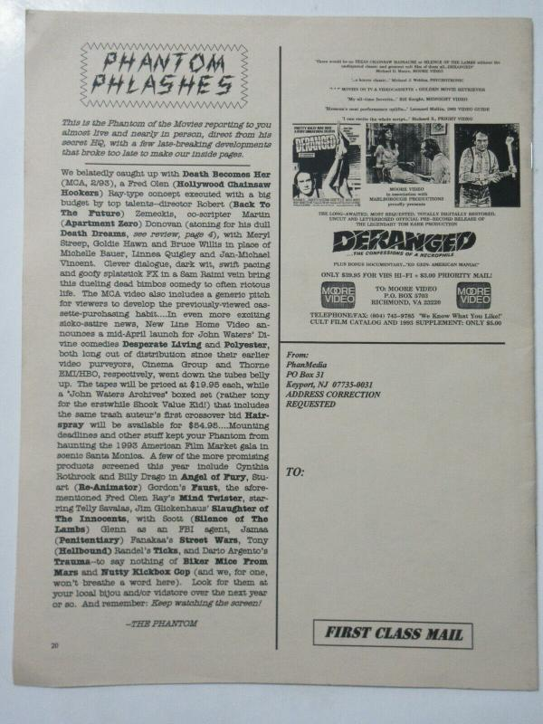 Phantom of the Movies'  Videoscope  vol. 1 no. 2 Mar/Apr 1993 Ms. 45 Interview
