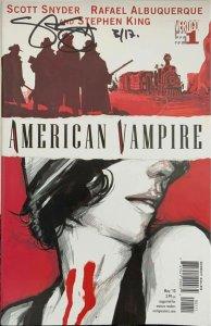 American Vampire #1 Signed by Scott Snyder  Vertigo DC Comics 2010