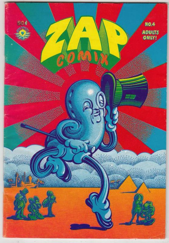 Zap #4 (Jan-68) VG/FN Mid-Grade Mr. Natural, Flakey Font, Wonder Wart Hog, th...