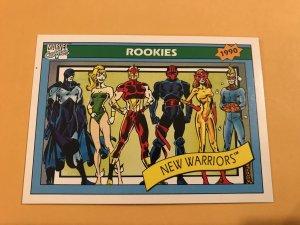 NEW WARRIORS #85 : 1990 Marvel Universe Series 1 card, NM/M,  Rookies