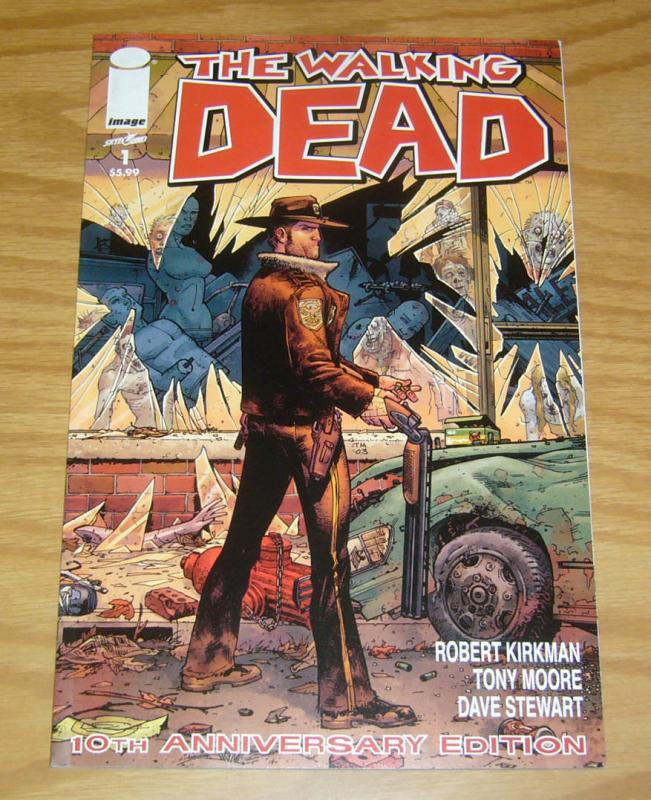 Walking Dead #1 VF/NM robert kirkman - 10th anniversary edition - zombies 2013