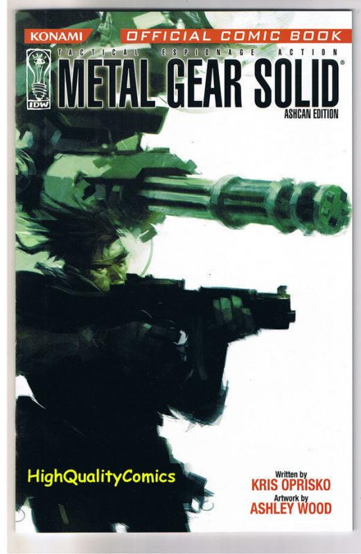 METAL GEAR SOLID Ashcan, Promo, Ashley Wood, 2004, NM-