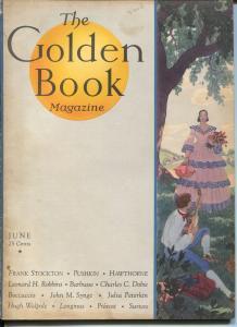 Golden Book 6/1931-new cover format-pulp thrills-VG