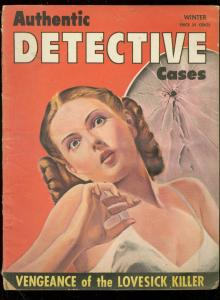 AUTHENTIC DETECTIVE #1--WINTER 1944-PULP- GOOD GIRL ART G