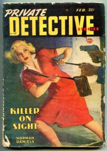 Private Detective Pulp February 1948- Killer on Sight G/VG
