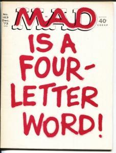 MAD Magazine #163 1973-Martin-Berg-Drucker -HIGH GRADE