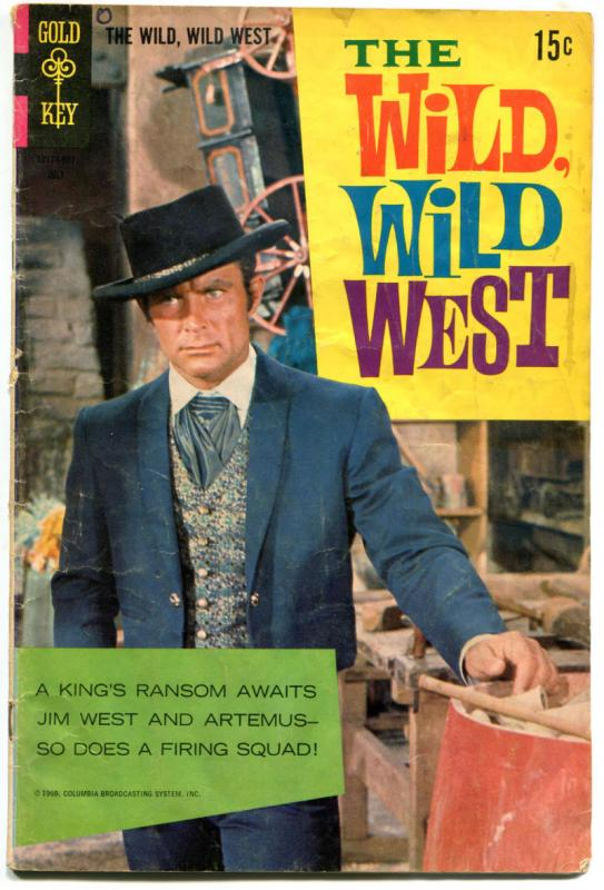WILD WILD WEST #6, GD, Gold Key, Robert Conrad, Martin, 1966, more TV in store
