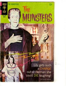 The Munster # 14 FN Gold Key Silver Age TV Series Comic Book Photo Cover JL3