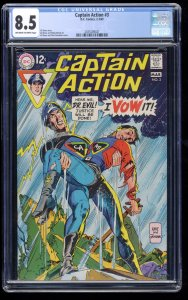 Captain Action #3 CGC VF+ 8.5 Off White to White
