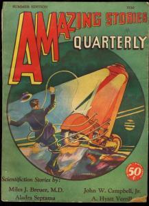 AMAZING STORIES QUARTERLY 1930 SUM-ROBOT COVER G/VG