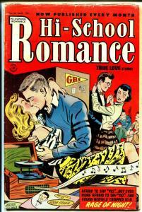 Hi-School Romance #26 1954-Harvey -make out session-Eddie Fisher-Bob Powell-G