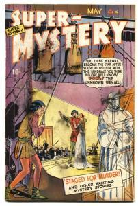 Super-Mystery Vol. 8 #5 1949-The Unknown-Mr Risk-Meskin-Tuska-P