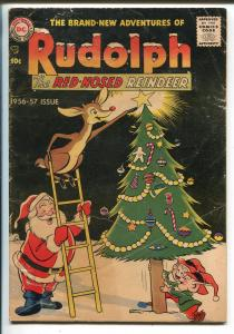Rudolph The Red-Nosed Reindeer 1956-DC-Santa Claus-Christmas issue-VG-