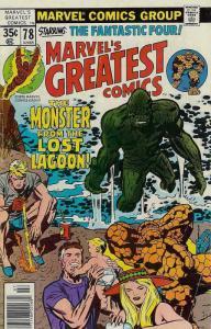 Marvel's Greatest Comics #78 FN; Marvel | save on shipping - details inside