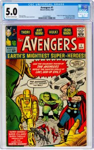 Avengers #1 CGC Graded 5.0 Origin & 1st appearance of the Avengers. Fantastic...