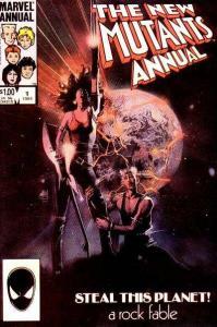 New Mutants (1983 series) Annual #1, VF+ (Stock photo)