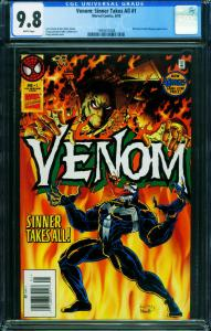 Venom: Sinner Takes All #1 CGC 9.8 1st issue-comic book-1994557008