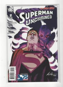 Superman Unchained #2  DC Comics New 52 75 ANNIVERSARY Variant NM