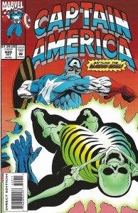 Captain America #420 (Oct 93) - w/ Nick Fury, S.H.I.E.L.D., Quasar vs Skull