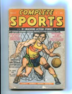 COMPLETE SPORTS PULP-MARCH-1947-BASKETBALL-RED CIRCLE! VG-