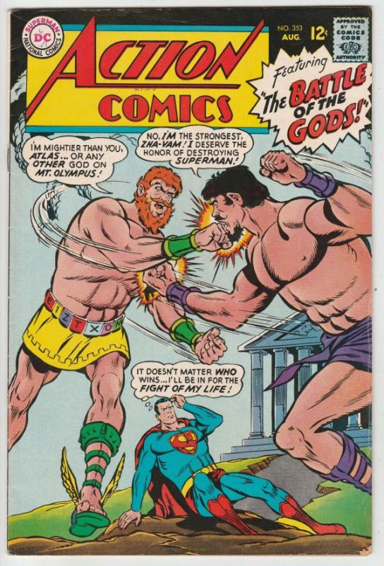 Action Comics #353 (Aug-67) VF+ High-Grade Superman