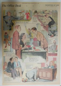 Vignettes Of Life by Norman Lynd The Office ! 5/28/1939 Size: 15 x 22 inch
