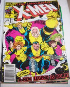 Uncanny X-Men #254 1989 MARVEL banshee forge storm polaris legion+ new team