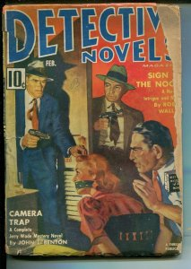 DETECTIVE NOVELS  2/1942-MYSTERY & CRIME PULP-BOUND-GAGGED-CANDID CAMERA-good