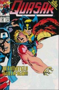 Marvel QUASAR #40 VF