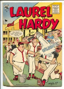 Laurel and Hardy #26 1955-St John-baseball cover-famous movie comedians-dinos...