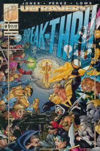 Break-Thru #1 VF/NM; Malibu | save on shipping - details inside