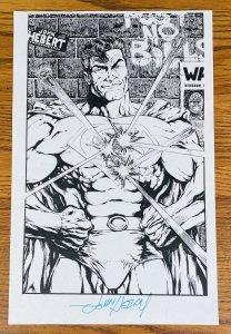 SUPERMAN COMIC BOOK ART PAGE SIGNED PRINT JOHN HEBERT 11x17 DC Comics