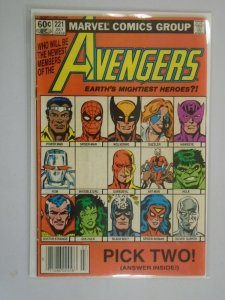 Avengers #221 Newsstand edition 4.0 VG water damage (1982 1st Series)