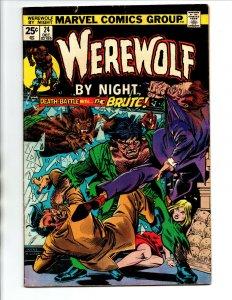 Werewolf by Night #24 - Mark Jeweler Variant - 1974 - FN