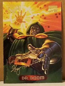 1994 Marvel Masterpieces Gold Foil Signature Series #31 Dr Doom/Hildrebrandt